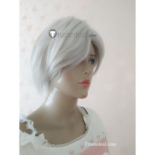 D.Gray Man Allen Walker Silver White Cosplay Wig1