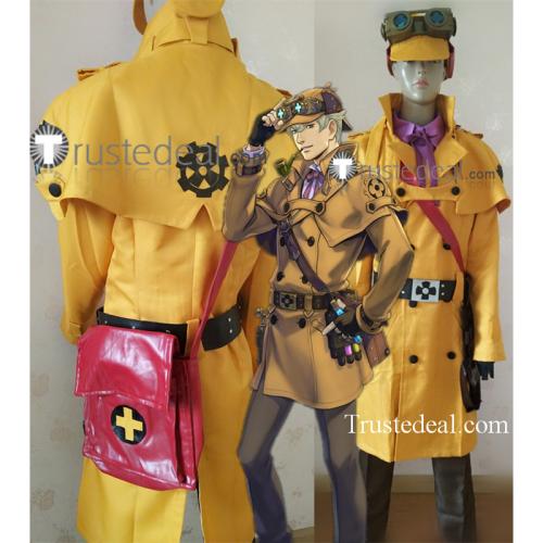 Dai Gyakuten Saiban Naruhodou Ryounosuke no Bouken Steampunk Detective Sherlock Holmes Cosplay Costume