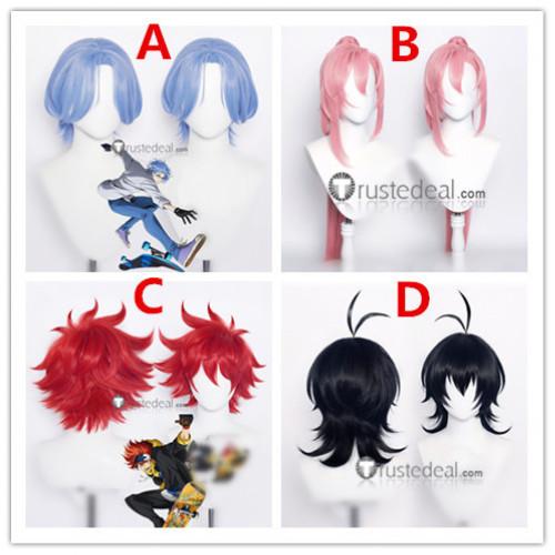 SK8 the Infinity SK∞ Reki Langa Cherry Blossom Miya Red Blue Pink Black Cosplay Wigs