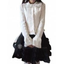 Cotton White Lolita Blouse And Black Lolita Skirt(CX427)