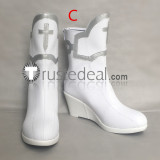 Sword Art Online Asuna White Cosplay Boots Shoes