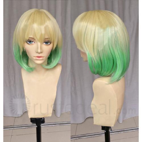 Twin Star Exorcists Sousei no Onmyouji Mayura Otomi Golden and Green Cosplay Wig