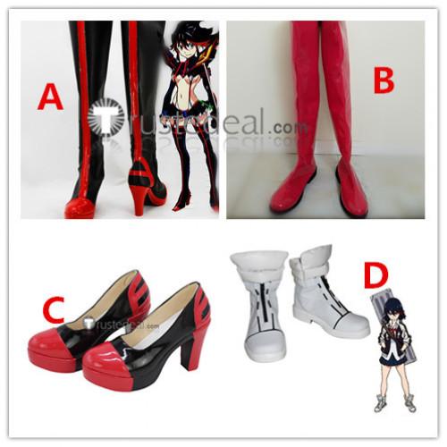 Kill la Kill Ryuko Matoi Senketsu Kisaragi Version Red Fighting White Cosplay Shoes Boots