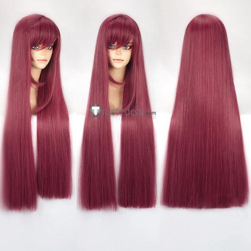 Onmyoji Yasha Awakened Dark Red Purple Cosplay Wigs