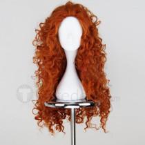 Brave Disney Princess Merida Brown Orange Cosplay Wig