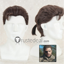 Metal Gear Solid V The Phantom Pain Venom Snake Big Boss Brown Gray Cosplay Wig