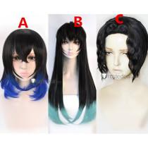 Demon Slayer Kimetsu no Yaiba Tokitou Muichirou Inosuke Hashibira Muzan Kibutsuji Cosplay Wigs