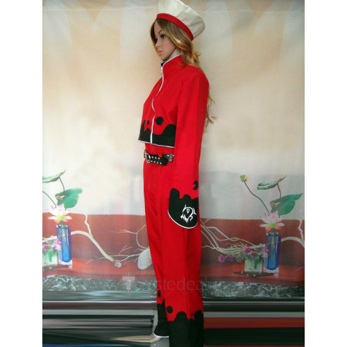 The King of Fighters Ash Crimson Red Cosplay Costume