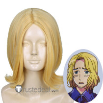 Hetalia Axis Powers France Francis Bonnefoy Blonde Gold Cosplay Wig