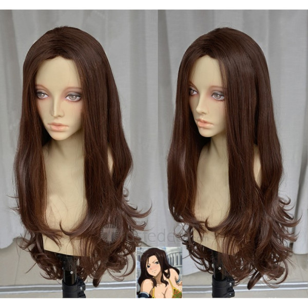 Fairy Tail Kana Alberona Long Brown Black Cosplay Wigs