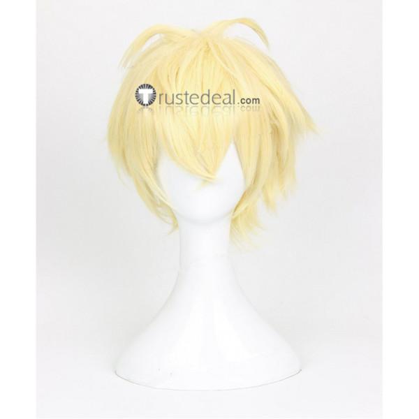 Seraph of the End Owari no Serafu Mikaela Hyakuya Light Blonde Cosplay Wig