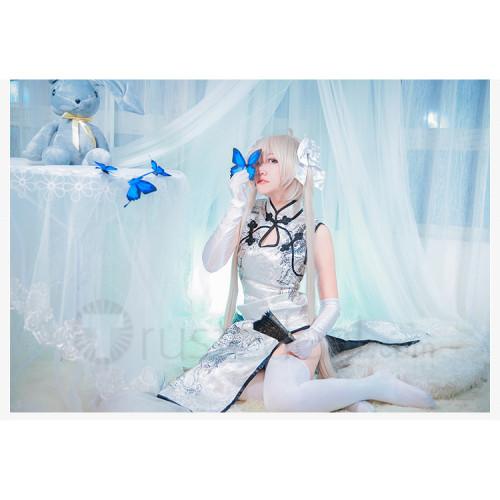 Yosuga no Sora Kasugano Sora Cheongsam White Black Cosplay Costume
