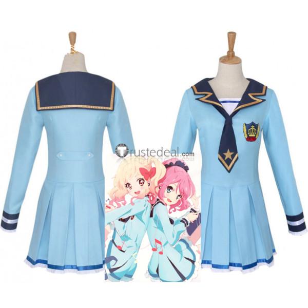 Aikatsu Stars Nijino Yume Ichigo Laura Koharu Blue Sailor Uniform Cosplay Costume
