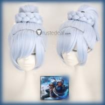 League of Legends LOL Freljord Taliyah Stoneweaver Blue Cosplay Wig