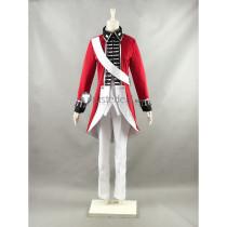 Axis Powers Hetalia England UK Arthur Kirkland Revolutionary War Red Cosplay Costume