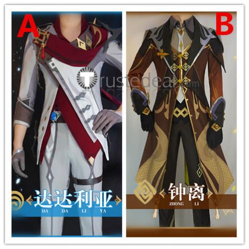 Genshin Impact Zhongli Tartaglia Childe Cosplay Costumes