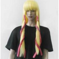 Code Geass Monica Kruszewski Yellow Gold Cosplay Wig