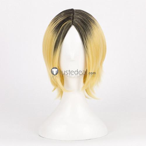 Haikyuu Kenma Kozume Kiyoomi Sakusa Blonde and Black Cosplay Wigs