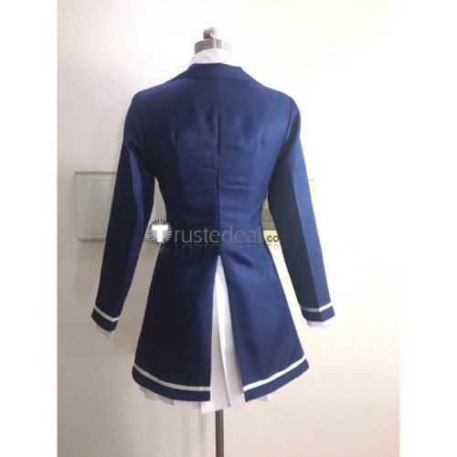 Zombie Land Saga Zonbi Rando Saga Sakura Minamoto Dark Blue Uniform Cosplay Costume