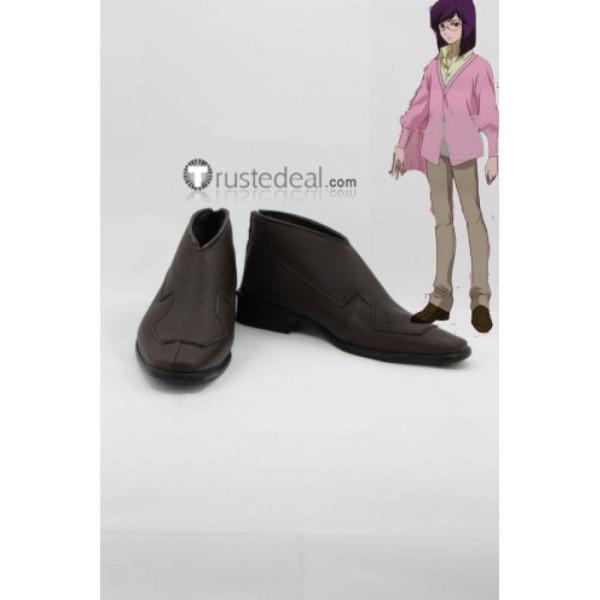 Mobile Suit Gundam 00 Tieria Erde Brown Cosplay Shoes Boots