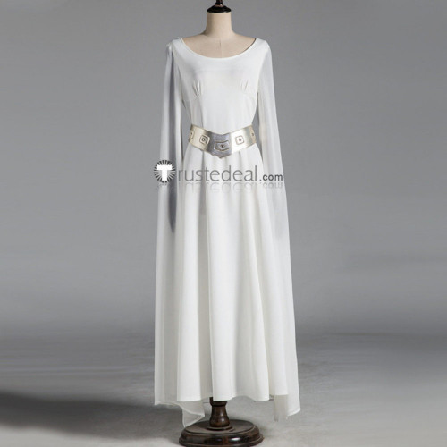 Star Wars Princess Leia Organa of Alderaan White Dress Cosplay Costume