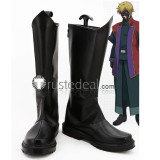 Mobile Suit Gundam 00 Graham Aker Black Cosplay Shoes Boots