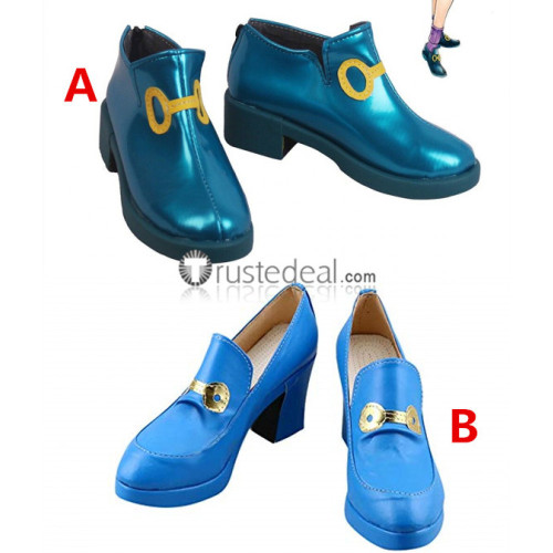 JoJo's Bizarre Adventure Yukako Yamagishi Blue Cosplay Shoes Boots
