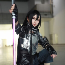 Sword Art Online GGO Kirito Brown Black Cosplay Wigs 100cm