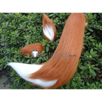 Spice and Wolf Horo Cosplay Wolf Brown White Ears Cosplay Accessories