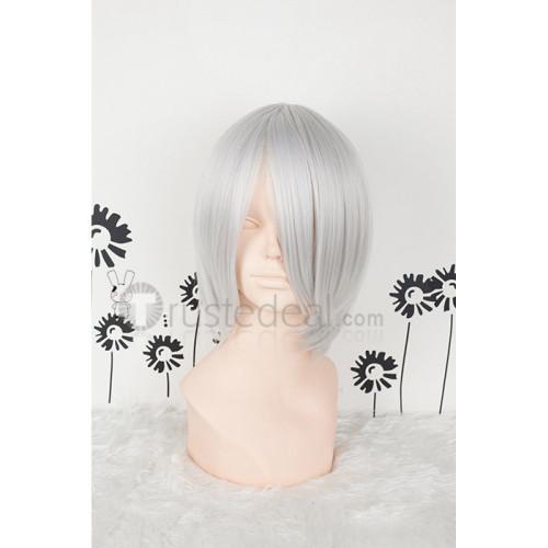 Vampire Knight Kiryuu Ichiru White Silver Cosplay Wig