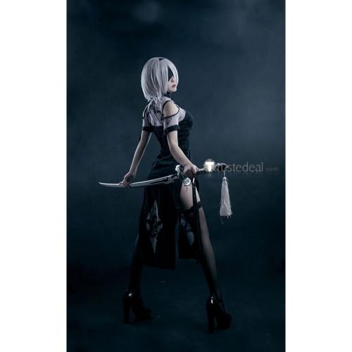 Nier Automata 2B Cheongsam black Cosplay Costume