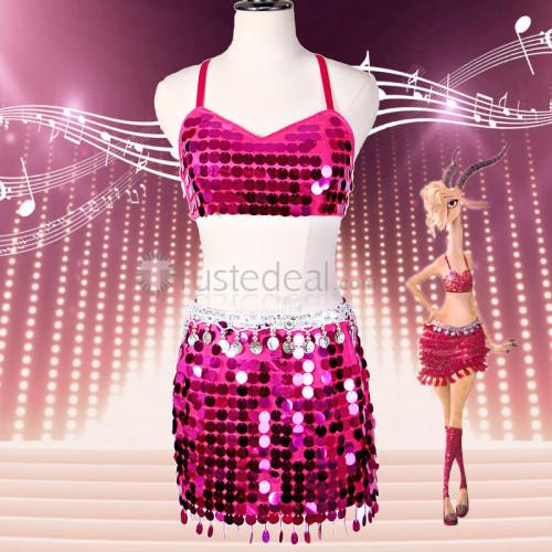 Zootopia Zootopian Pop Star Gazelle Pink Cosplay Costume