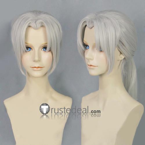Naruto Kabuto Yakushi Silver Grey Ponytail Cosplay Wig