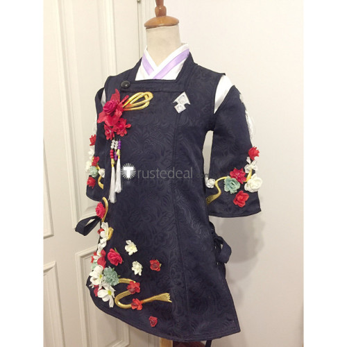 Final Fantasy XIV Little Ladies Day Miqo'te Girl Black Cosplay Costume