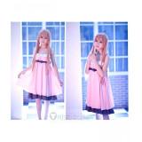 Sword Art Online Asuna Pink Chiffon Pyjamas Cosplay Costume