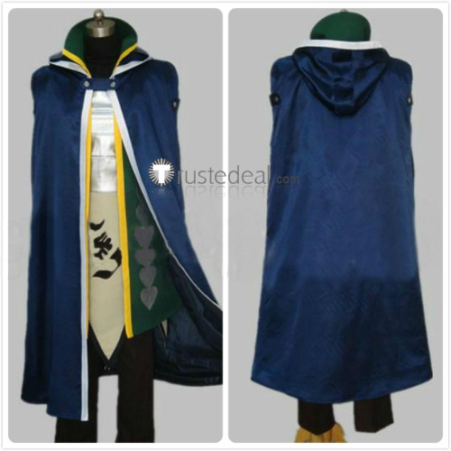 Fairy Tail Crime Sorciere Jellal Fernandes Blue Cosplay Costume
