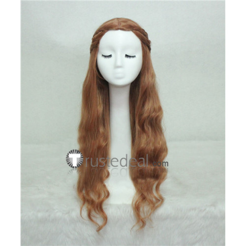 Game of Thrones Queen Cersei Lannister Braid Brown Cosplay Wig