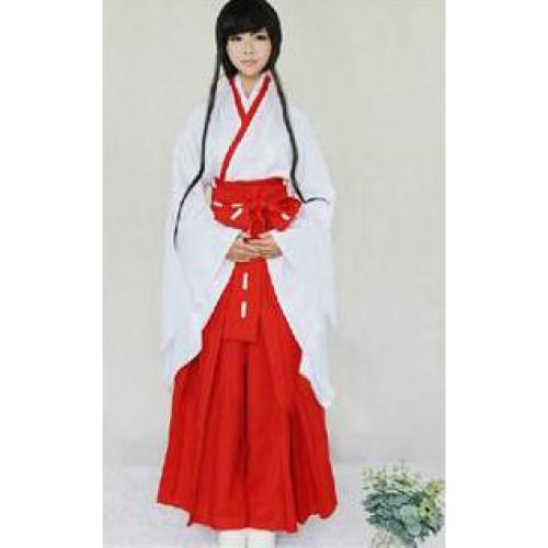 Blood C Saya Kisaragi Red White Kimono Cosplay Costume
