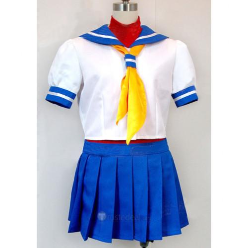 Street Fighter SAKURA Sailor Cosplay Costume