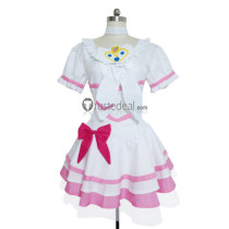 HeartCatch PreCure Cure Rhythm White Pink Cosplay Costume
