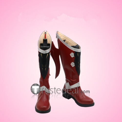 Final Fantasy 14 Estinien Wyrmblood Red Cosplay Boots Shoes