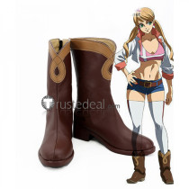 Mobile Suit Gundam IRON BLOODED ORPHANS Lafter Frankland Brown Cosplay Boots Shoes