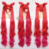 League of Legends Jinx Star Guardian Long Red Ponytails Cosplay Wig 100cm