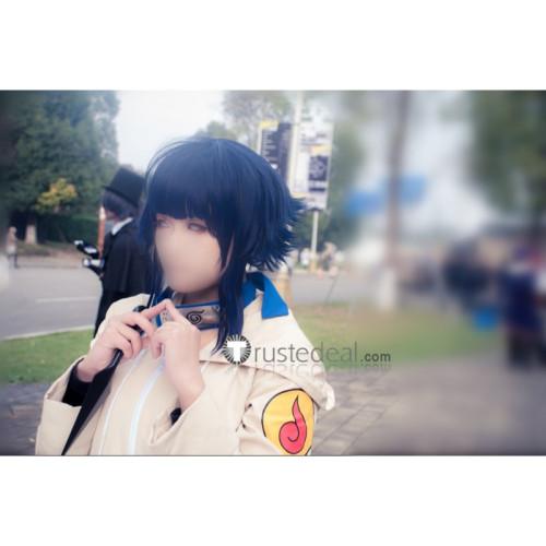 Naruto Young Hinata Hyuuga Short Blue Black Cosplay Wig