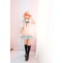Kyoukai no Kanata Beyond the Boundary Kuriyama Mirai School Suit Cosplay Costume