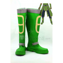 Sword Art Online ALO Agil Andrew Gilbert Mills Green Cosplay Boots Shoes