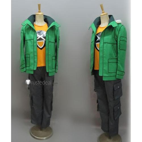Fairy Tail Leo Loke Loki Green Cosplay Costume