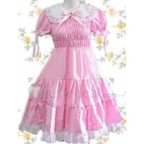 Cotton Pink Short Sleeves Lolita Dress(CX162)