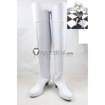 Miss Monochrome White Cosplay Shoes Boots
