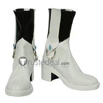 Tekken Alisa Bosconovitch White Cosplay Boots Shoes